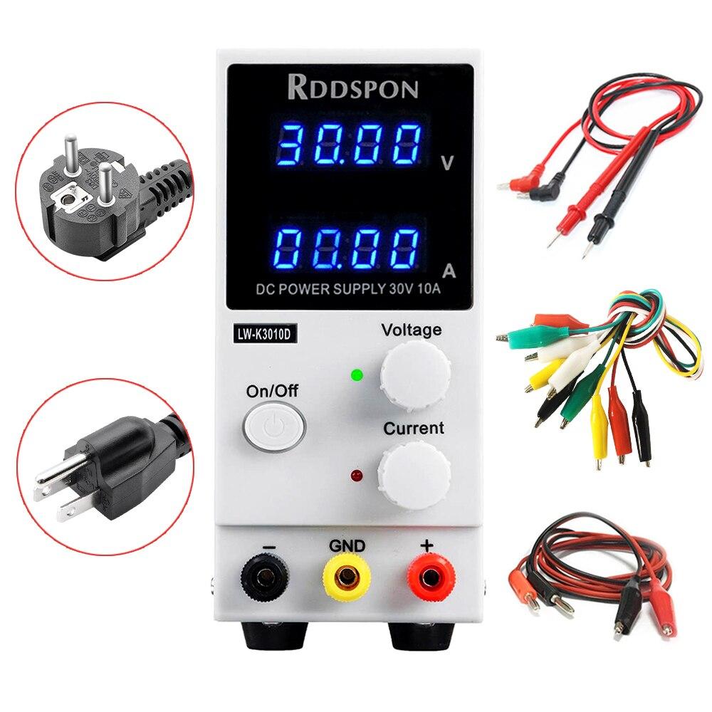 30V 10A Mini Adjustable DC Power Supply K3010D 4 Digit Display Switch Regulator Laboratory Power Supply For Phone Laptop Repair